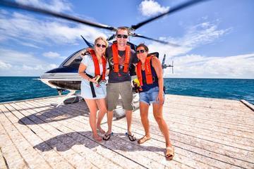 Panoramische helikoptervlucht en cruise op het Great Barrier Reef ...