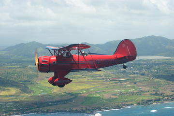Vintage Biplane Flight over Kauai