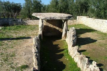 Dolmen of Chianca megalithic tomb - Bisceglie - Unesco heritage witness a culture of peace for humanity