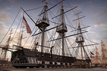 Crucero USS Constitution de Boston