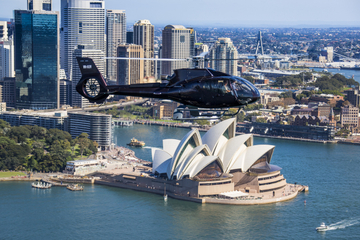 Excursão de helicóptero em Sydney...