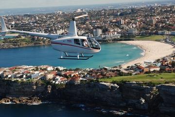 Hubschrauberrundflug über die Stände...