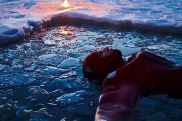 Aventure de flottaison sur la glace...