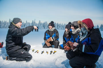 Lapland Snowmobiling and Ice Fishing