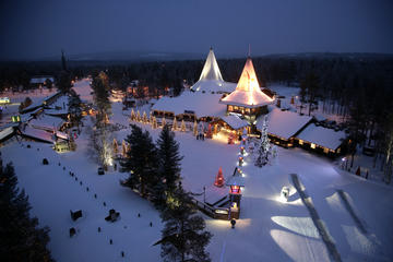 Santa Claus Village and Snowmobiling