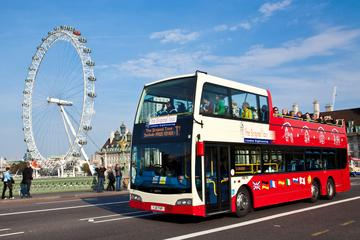 London Kombi-Angebot: Hop-off-Tour und London Eye-Champagnerfahrt