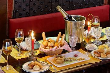 Combinação de vinho veneto e jantar...