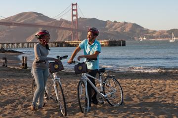 Cykeltur på Golden Gate-bron i San Francisco