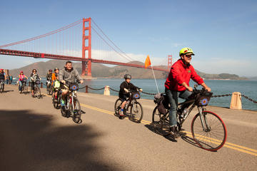 Cykeltur till Sausalito på Golden Gate-bron i San Francisco