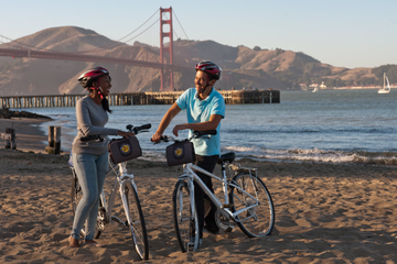 Paseo en bicicleta por el puente Golden Gate de San Francisco