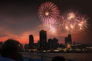 Crucero con fuegos artificiales en 3D en Chicago por el lago Michigan