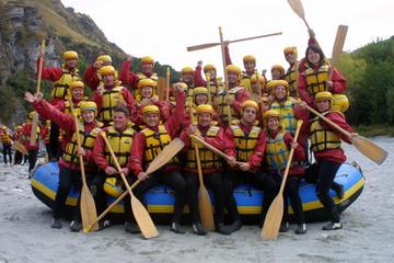 Triple desafío (lancha motora, helicóptero y rafting en aguas bravas)