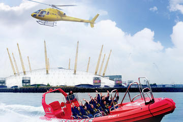 London: Hubschrauberrundflug und Schnellbootsfahrt auf der Themse