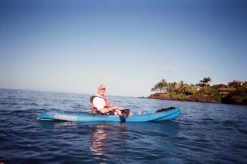 カヤック乗りとシュノーケリング - サウスショアとウミガメ