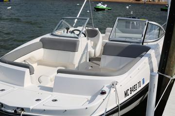 Traverse Bay Deck Boat Rental