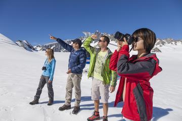 Naturskön helikoptertur över Franz Josef-glaciären