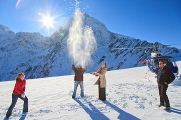 Voo de helicóptero da geleira dupla de Franz Josef