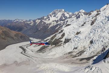 Voo de helicóptero de geleira dupla...