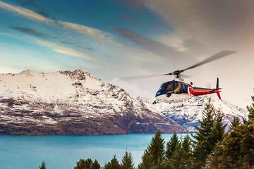 Voo de helicóptero pela geleira Southern saindo de Queenstown