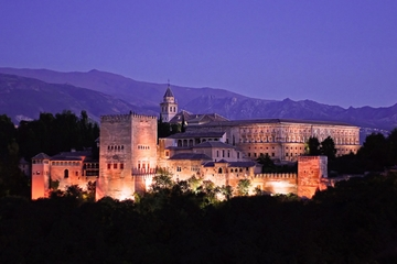 Excursão privada: Alhambra à noite incluindo Palácios Nasrid e...