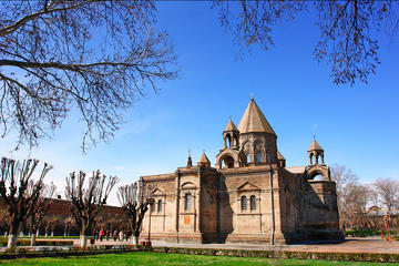 Echmiadzin Mother Cathedral, Hripsime Church and Zvartnot Temple From Yerevan