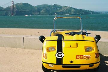 San Francisco-kombination: Alcatraz och GoCar-rundtur med GPS-guide
