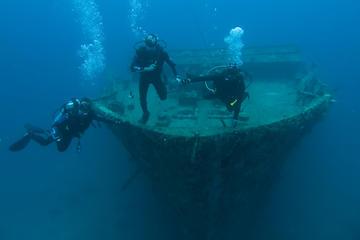 Inmersión en los restos del naufragio...