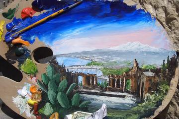 Paint and Wine in Taormina with Villa Comunale Garden Visit