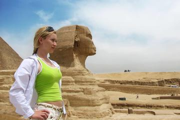 Day tour to Giza pyramids and the sphinx  Sakkara and Memphis and Carpet school
