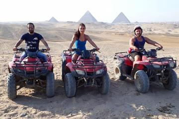 Quad Bike at Giza Pyramids and Camel Ride during sunset