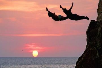Show de mergulhador de penhasco e jantar em Acapulco