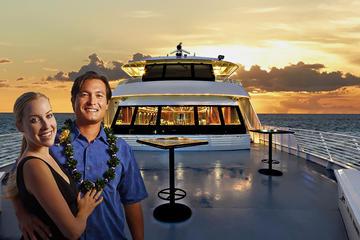 Cruzeiro-jantar ao pôr do sol em Oahu...
