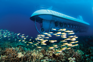 Ubåtsäventyr och luau-fest vid Royal Kona Resort i Kona