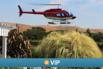 VIP Viator: Napa en hélicoptère avec dégustation de vins et déjeuner