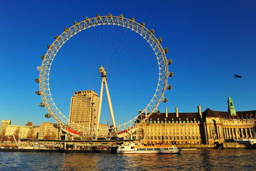 London Eye and Thames River...