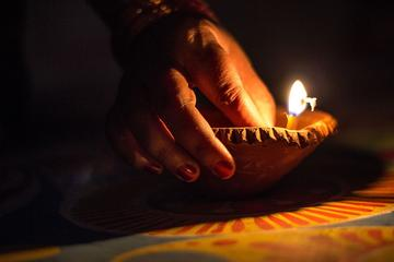 Diwali Festival Celebration with Indian Family