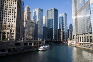 Chicago City Tour og Chicago River...