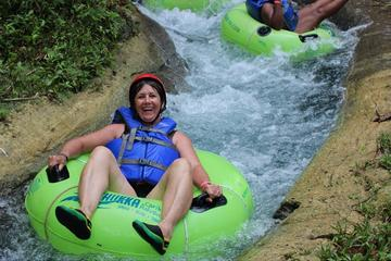 Ziplining, River Tubing, and Blue Hole Adventure from Runaway Bay
