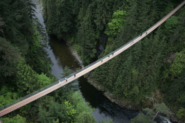 Entrada para a ponte pênsil Capilano