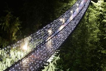 Winter-Wunderland-Abenteuer an der Capilano-Hängebrücke in Vancouver