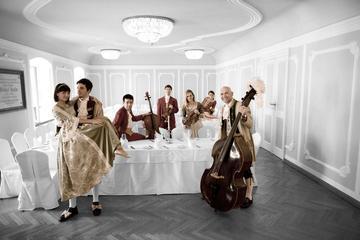 Mozartkonsert och middag på barocksalen i Salzburg