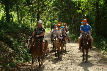 Canopy and Horseback Riding at Arenal La Fortuna Guided through Mountain Trail