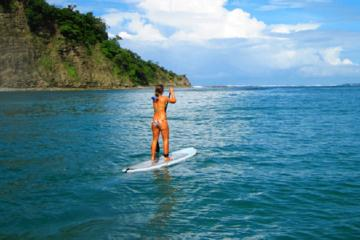 Garza beach stand up paddleboard (SUP) open ocean at Nosara in...