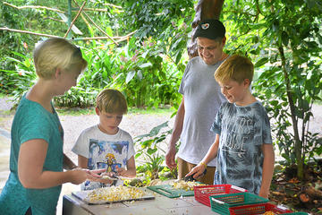 La Fortuna wildlife rescue center tour and volunteering guided trail walk
