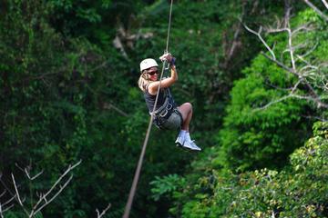 Zip line Canopy half day adventure tour near San Jose Costa rica in San Ramon