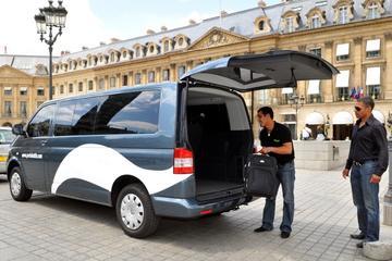 Skyttelbuss vid ankomst till Paris: flygplatsen Charles de Gaulle ...