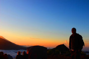 Volcano Sunset Sunrise Camping on the Top of Mount Batur - Bali Camping Tour