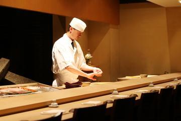 Sushi fazendo com um chef no Morimoto