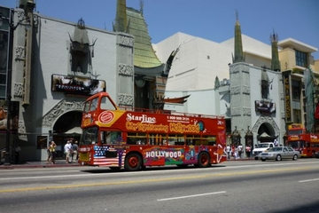 Hop-on hop-off tour door Los Angeles per dubbeldekker