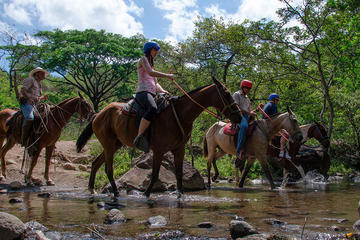 Horseback Waterfall Expedition, Zipline and Hot Springs Tour in...